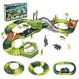 Dinosaurios Juguetes Coches de Juguetes Animales Juguetes 144 Piezas Circuito Pista de Dinosaurio con 1 Coches de Juguetes y 14 Dinosaurios Juegos Educativos Regalos para Niños 3 4 5 6 Años