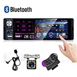 Car Stereo 4'' Capacitive Touch Screen Single Din Bluetooth Car Player FM AM RDS...