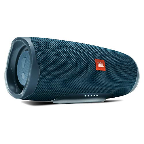 Jbl Charge 4 Speaker Bluetooth Portatile Cassa Altoparlante Bluetooth Waterproof Ipx7 Con Microfono, Porta USB, Jbl Connect+ e Bass Radiator, Fino A 20 H Di Autonomia, Blu