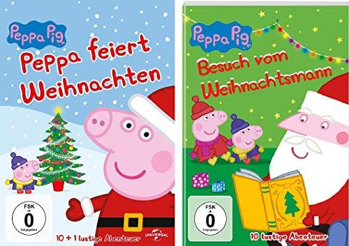 Peppa Pig - Weihnachten: feiert Weihnachten & Besuch vom Weihnachtsmann im Set - Deutsche Originalware [2 DVDs]