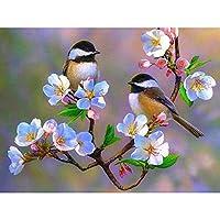 数字油絵 数字キット 鳥 数字キットによる絵画手塗り Diy絵 デジタル油絵塗り絵 キッズバースデーギフト 40X50Cm