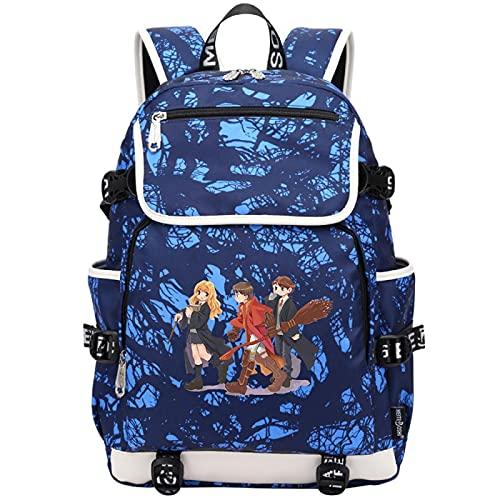 QLma Mochila para computadora portátil de viaje para jóvenes, colorida mochila escolar universitaria para hombres y mujeres con puerto de carga USB, mochila para computadora 45x37x16cm (style6)