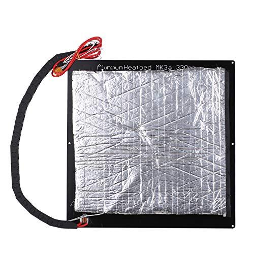 Aibecy Tronxy 24 V 3D Printer Upgrade Hotbed MK3 Piattaforma di riscaldamento Piastra in alluminio 220 x 220 x 3 mm Compatibile con la stampante 3D D01