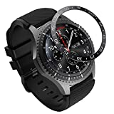 MoKo Ghiera Orologio in Acciaio Samsung Galaxy Watch 46mm/Gear S3 Frontier/Gear S3 Classic, Smart Watch con Numeri Secondi Incisi, Protezione Quadrante Antigraffi, Urti Accessori Orologio - Ne