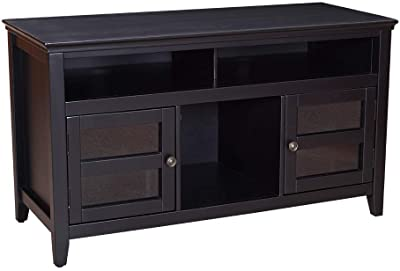 "Amazon Brand – Ravenna Home Classic Solid Wood Media Center, 47.87""W, Black"