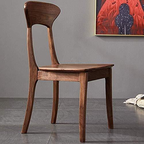 CKQ-KQ - Sillas de comedor para hotel y hotel, silla de comedor de madera, resistente, para el hogar nórdico de restaurante (color: marrón, tamaño: 43 x 43 x 87 cm) para silla de hogar