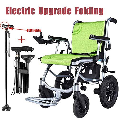 KILLM 2020 Upgrade Elektro Rollstuhl Faltbar Leicht, 360 ° Joystick Lithiumbatterie Elektro Mobilitätshilfe Elektrischer Rollstuhl, Medizinischer Leichte Roller, Tragbare Ältere Behinderte Hilfe Auto