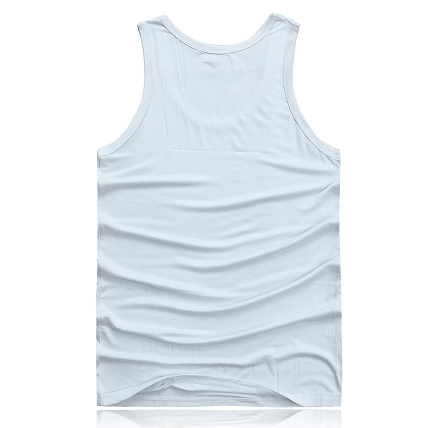 Zhhlinyuan メンズタンクトップMen's Elastic Vest Training Gym Lose Weight Shirt