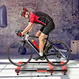 Gdrasuya10 Cycling Trainer Adjustable Indoor Bicycle Roller Trainer Bike Stationary Parabolic Training Roller Practice Exercise (Red)