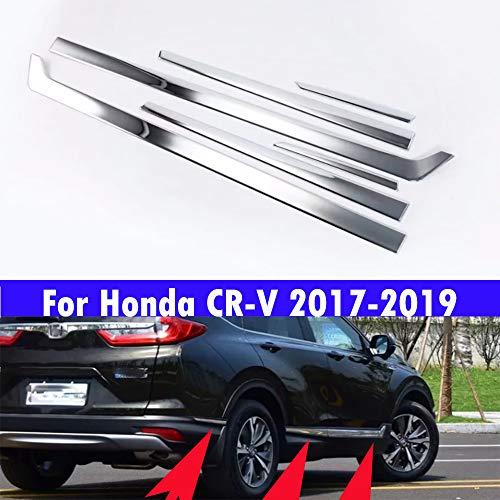 6 tiras protectoras para puerta de acero inoxidable galvanizado ABS para CRV CR-V 2017 2018 2019 2020
