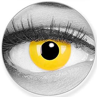b3d18f43d8 Colores Contacto lente Yellow en amarillo + 60 ml Cuidado de + comida –  funnylens Marca