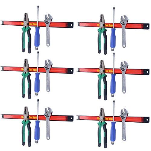 COSTWAY 6 x Magnetleiste Werkzeugleiste Magnet Werkzeughalter Werkzeug Halterung 46cm
