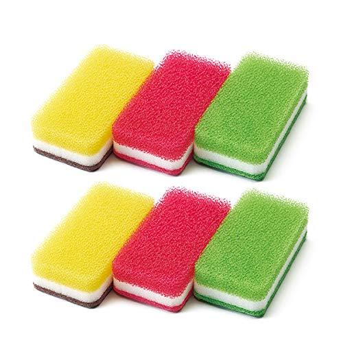 ダスキン【公式】 台所用スポンジ抗菌タイプ カワイイカラーセット 6個入り(3色セット×2)