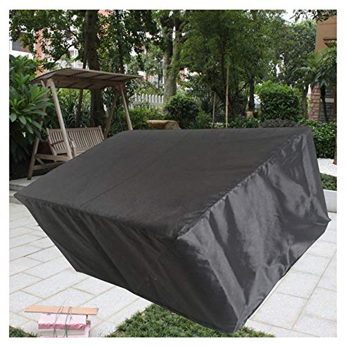 LITINGFC-Garden Furniture Cover,Heavy Duty Oxford Fabric Patio Furniture Cover Waterproof Windproof,Outdoor Patio Table Moisture-proof Covers (Color : Black, Size : 120X120X74CM)