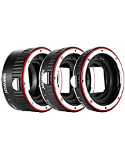 Neewer Metal Auto Focus AF Macro Extension Tube Set 13mm,21mm,31mm for Canon EF EF-S Lens DSLR Camera,Such as 7D Mark II,5D Mark II III,IV,1300D,1200D,1100D,750D,700D,650D,600D,550D,500D,100D,80D,70D