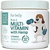 DAILY 9-in-1 FORMULA - Essential daily multivitamin for dogs support healthy skin & coat, digestion, heart, brain, kidneys, and bladder. Our dog probiotic chews also promote healthy hips & joints and an improved immune system. HEALTHY SKIN & COAT - P...