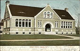 Lithgow Library Augusta, Maine Original Vintage Postcard
