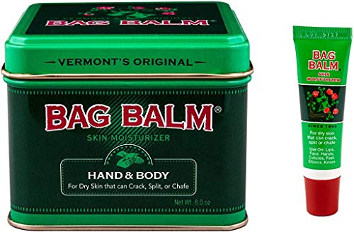 Bag Balm Bundle Animal Tin 8 Oz and OnThego Tube 025 Oz