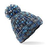 Beechfield torcitore Pompon Berretto-Casuale/Elegante Inverno Cappello Colori - Glacier Twist