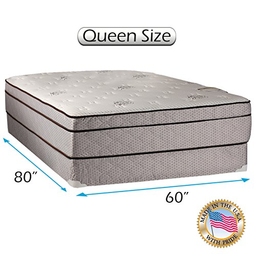 Lowest Price! Dream Sleep Fifth Ave Plush Foam Encased Pillowtop (Eurotop) Mattress Set with Mattres...
