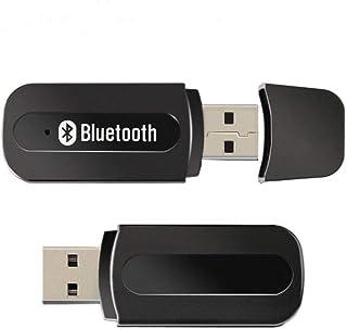 USB Bluetooth Receptor Bluetooth Mini Car Kit Adaptador de Música Para el Mini Car Kit 3.5mm Adaptador de Audio Inalámbrico (Negro)