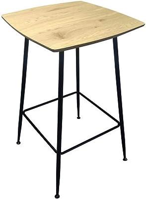 Zons Table Mange Debout CARRÉ en Bois, L60xP60xH102CM