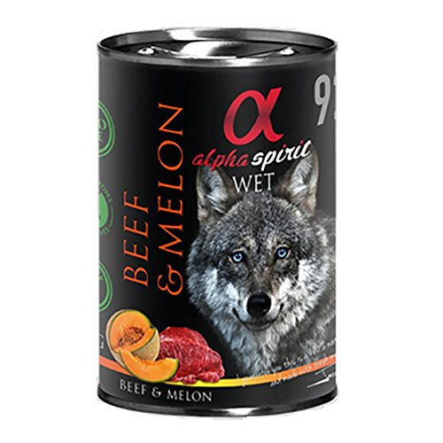 Alpha Spirit Canine Adult Ternera Melon Lata 400Gr