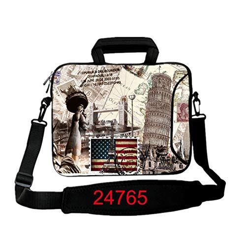 9.7 10.1 11.6 12.1 13.3 14.1 15.4 15.6 17.3 17.4Laptop Shoulder Bag Tablet Sleeve PC Case for Macbook HP Asus Acer HP Lenovo (Color : 24765, Size : 15.6 inch)