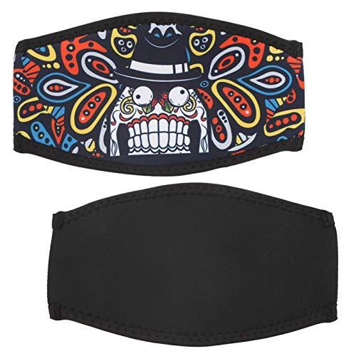 SALUTUYA Máscara de Snorkel Correa para el Cabello Diadema de natación de tamaño pequeño, para bucear(Cartoon Printing-Funny Teeth)