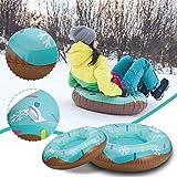 Bumplebee Aufblasbare Schlitten für Erwachsene Kinder, Snow Tube Reifen Verdicken Kälteschutz...