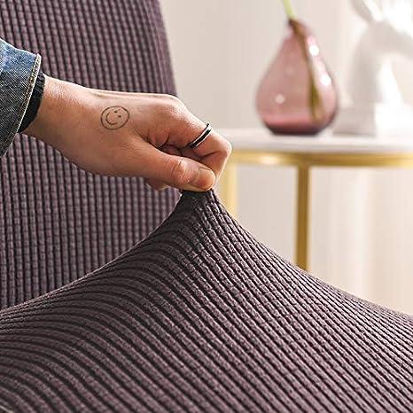 Mayama 2 unidades funda de silla de poli/éster y elastano Funda para silla extensible de color liso azul marino, 2 unidades