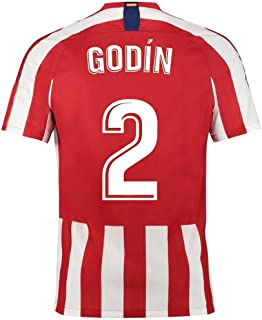 Diego Godín # 2 Soccer Ball Clothing - Breathable Quick Dry (Color : Red, Size : L)