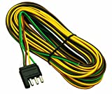 Wesbar Trailer Hitches - Wesbar 707261 Wishbone Style Trailer Wiring Harness with 4-Flat Connector,3-Feet