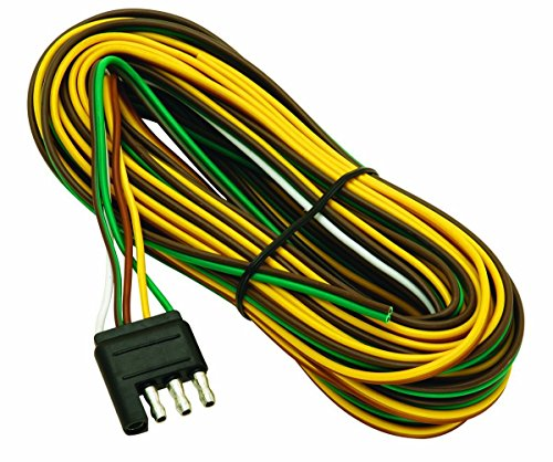 Wesbar 707261 Wishbone Style Trailer Wiring Harness with 4-Flat Connector,3-Feet