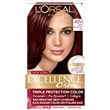 L'Oreal Paris Excellence Creme Permanent Hair Color, 4RM Dark Mahogany Red, 100 percent Gray Coverage Hair Dye, Pack of 1