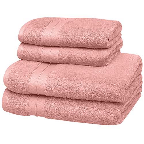 SOHYGGE – Lot Serviette de Bain (4 pcs), 100% Coton 500gr/m2, Écologique sans Produit Chimique Oeko-TEX – 2 x Drap de Bain (140 x 70 cm) et 2 x Serviette de Bain (50 x 80cm)