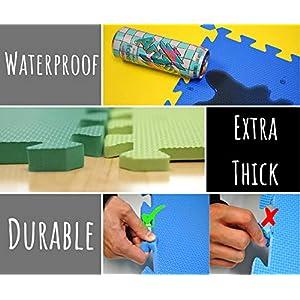 "EWONDERWORLD 84"" x 36"" Premium Quality Extra Thick Interlocking Treadmill Exercise Puzzle Foam Mat - Home Gym Floor, Workout Equipment Mat, Noise Reduction Flooring"