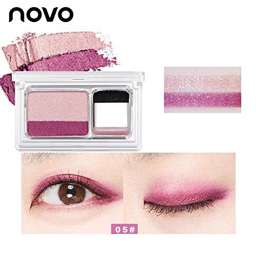 Novo Dual-Color Lidschatten-Palette mit Dual-Layer-Verlaufsversiegelung Eyeshadow Quick Makeup