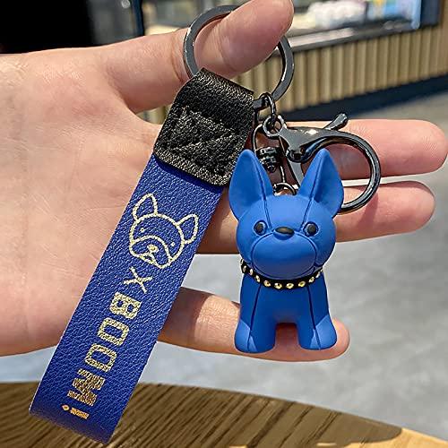Hund Schlüsselbund Bulldogge Schlüsselring Tier Schlüssel Anhänger Kreative Schlüsselring Kleines Geschenk Welpen Party Begünstigt Weihnachten Party Tasche Füllstoffe