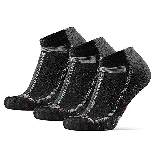 Long Distance Low-Cut Running Socks for Men & Women (Svart, 39-42)