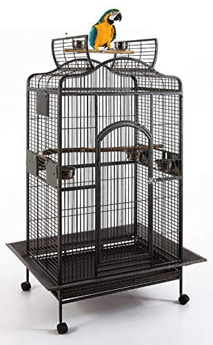 Extra Large Wrought Iron Open Play Top Parrot Bird Cage for Large Macaws Cockatoos African Grey Amazon