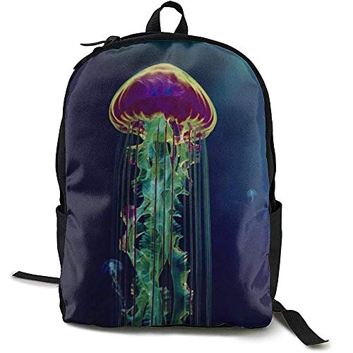 Bookbag,Under Sea Ocean Jellyfish Blue Art School Bag Travel Daypack Schoudertas