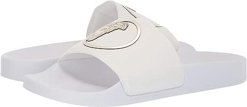versace medusa belt white