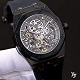 Nuevo Reloj Hombre, Moda, clásico, Blanco, Azul, plástico, automático, Zafiro mecánico, Vidrio Transparente, Espalda, 43 mm, RelojesNegros