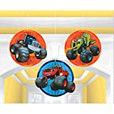Amscan 291582 Blaze and the Monster Machines Honeycomb Decorations, 3 pcs, Party Favor Multi Color, 6 1/5'