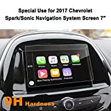 LFOTPP Car Navigation Screen Protector for 2017 Spark/Sonic MyLink 7-Inch,Clear Tempered Glass Infotainment Display In-Dash Center Touch Screen Protector