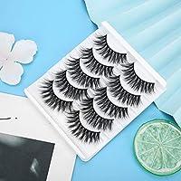 安全でアレルギーのない女性の女性のための10ペア増粘まつげ、6 D効果まつげ(GL702)