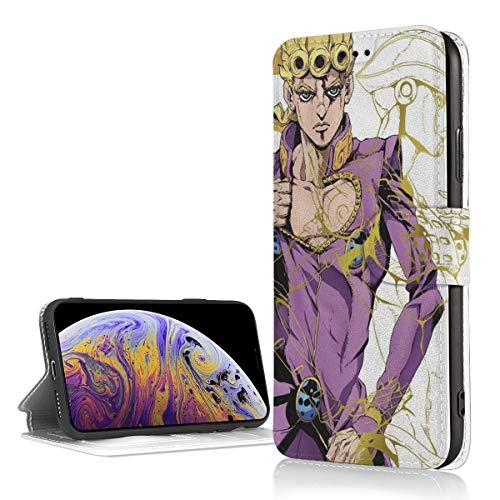ジョジョの奇妙な冒険黄金の風 Iphone 7/8/XR/X/XS ケース アイフォンケース 手帳型ケース 携帯ケース カード収納ケース 財布ケース TPU+PUレザー