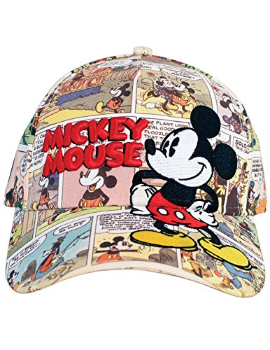 Disney Mickey Mouse Old Comic Prints Adult Baseball Cap