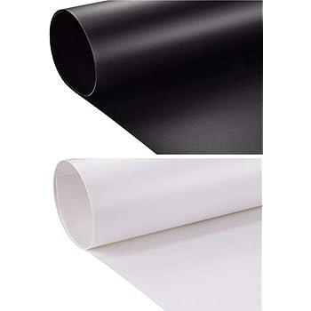 PVC 撮影用バックペーパー・背景布 写真 背景シート 白 黒 背景纸 (白 黒 つや消し2枚 セット)